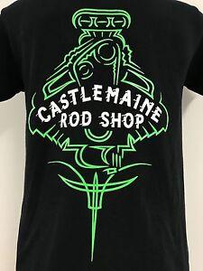 CASTLEMAINE ROD SHOP PINSTRIPE T-SHIRT