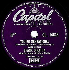 Clásico Frank Sinatra 78 You'Re Sensational (High Society) Capitol CL14646 Ex