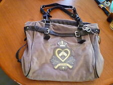 Juicy Couture X-large Gray Velour Hobo Slouch Tote Handbag