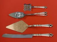 Danish Crown by Frigast Sterling Silver Dessert Serving Set 4pc Custom Made