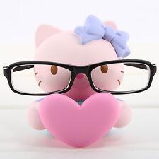 JAPAN SNRIO HELLO KITTY EYE PINK HEART GLASSES SUNGLASSES STAND STATUE