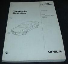 Werkstatthandbuch Opel Vectra B Ausstattung und Technik Stand September 1995