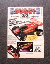 I190-Advertising Pubblicità-1988- BUGGY FRECCIA ROSSA RADIOCOMANDATO , GIG