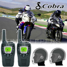Cobra MT645 Motorbike Walkie Talkie Radio Intercom 2 PTT Open Face Headsets