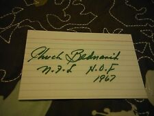 CHUCK BEDNARIK HOF 1967 autograph 3 x 5 Index Card