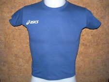 tee shirt junior manches courtes ASICS,100% coton, Bleu foncé -10/12 ans-T213Z9