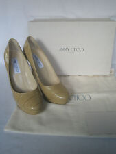 NEW JIMMY CHOO Ladies COSMIC Nude Brown Leather Court Shoes Heels UK 7 EU 40 10