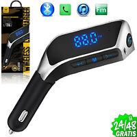 BT Bluetooth Para Coche Transmisor de FM Radio MP3 Reproductor TF Cargador USB
