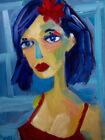 "Original Art Impressionist Portrait Oil Painting on Stretched Canvas 14"" x 11"""