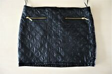 ZARA 36 S XS leather black mini skirt