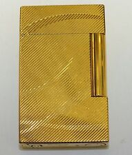 Yellow Gold Tone Dupont Ligne 2 Butane Lighter Cursive D