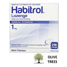 Habitrol Nicotine Lozenges 1 mg Mint Flavor (216 pieces, 1 box) NEW 07/2021