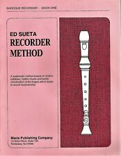 Ed Sueta Recorder Method - Baroque Recorder / Book One (1992)