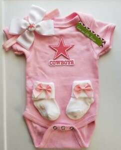 Cowboys pink infant/baby girl clothes Cowboys baby shower girl cowboys newborn