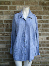 Women's Eileen Fisher Long Sleeve button down Top / blouse Plus sz 1X