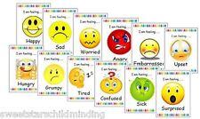 Emotions/ How I am feeling today FLASH CARDS x12 - Childminder, EYFS, SEN.