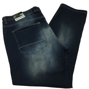 "Modern Culture Men's Performance Denim Jeans Dark Wash Sz 46"" X 32"" Distressed"