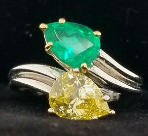 Vintage Harry Winston Colombian Emerald Diamond Platinum Ring 2.69ct