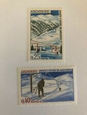 Mint 1966 Andorra Stamps - Winter Sports - 0,25 & 0,40 Stamps
