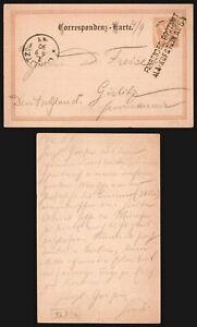 Austria 1890 - Postal Stationery to Gorlitz Germany - Railroad TPO D116