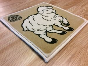 Cream Ship Picture  Design QUALITY NATURAL SOFT Wool Rug Door MAT 40x40cm 50%OFF
