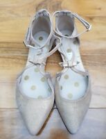 BODEN LADIES GORGEOUS BONNIE GOLD WITH BOW FLATS EU 38 UK 5 Brand new.