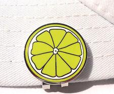 Lemon Slice Golf Ball Marker and Strong Magnetic Hat Clip
