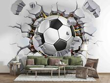 3D Football Soccer Self-adhesive Removeable Wallpaper Wall Mural Sticker 115