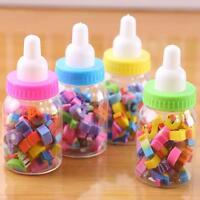 Cute Mini Bottle Fruit Rubber Pencil Erasers School Stationery For Children Kids
