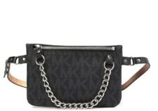 Michael Kors Pull Chain Belt Bag/ NWT/ Fancy Pack/ Black- Grey