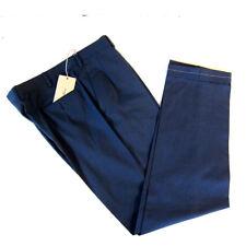 J-2631983 Nuevo Brioni Azul Parte Delantera Lisa Bolsillos Laterales Pantalones