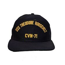 USS Theodore Roosevelt CVN-71 5 Inch Black Gold Cap Hat Embroidered Patch F2D5N