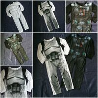 Boys Kids Official Star Wars Fancy Dress up PJS Pyjamas Darth Storm Trooper