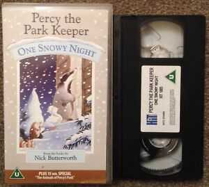 PERCY THE PARK KEEPER: ONE SNOWY NIGHT & ANIMALS OF PERCY'S PARK-VHS SMALL BOX.