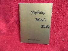 1967 Fighting Man's Bible for God and Country Life Publications