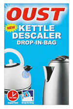 OUST KETTLE DESCALER DROP IN BAG. SUPERFAST, JUST 10 MINUTES.