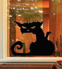 Halloween Spooky Black Cat Window Door Sticker Decals Trick or Treat H90