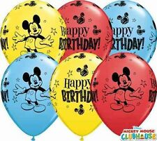 """5 x Mickey Mouse Clubhouse Balloons - 11"""" latex Qualatex Birthday Party"""