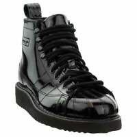 """adidas Superstar Lace Up  Womens  Boots   Ankle Low Heel 1-2"""" - Black"""