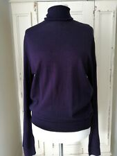 Jumper Roll Neck ladies Size Medium 12/14 Merino Wool Blend Plum Purple