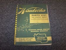 Waukesha 140 140GK 140GZ 140GKB 140GZB Series Engine Parts Catalog Manual