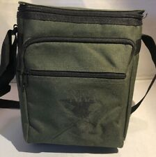 Nra Heavyweight Canvas Lunch Beer Cooler Bag W/Strap Army Green Insulated Picnic