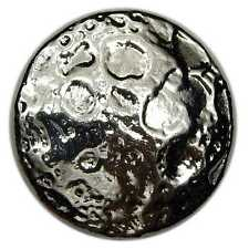 "Hand Poured 2 oz Silver Round ""Full Moon"" .999 Fine Silver | ShinyBars"