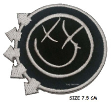 Blink 182 Rock Band Logo red Iron Sew on Embroidered Patch