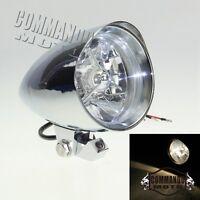 Chrome Aluminum Custom Bullet Headlight For Harley Cafe Racer Bobber Chopper