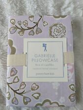 NEW Pottery Barn Kids Organic Butterfly Standard Pillowcase Gabrielle Purple NWT
