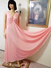 CLAIRE SANDRA BY LUCIE ANN VTG KEYHOLE Grecian Nightgown PINK size 38 bust