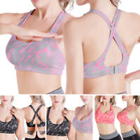 Women Camouflage Yoga Sports Bra with Removable Pads Sports Workout Tank Top