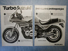 MOTITALIA982-PUBBLICITA'/ADVERTISING-1982- SUZUKI TURBO XN85 - (2 fogli)
