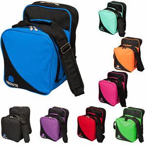 Bowling 1 Ball Tasche Ebonite Compact Single Bag Platz für Bowlingschuhe